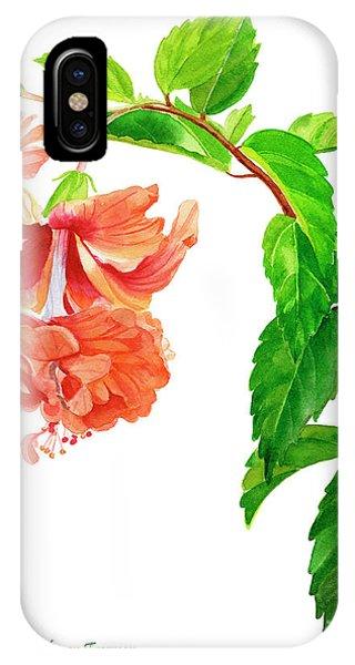 Hibiscus Flower iPhone Case - Hibiscus El Capitolio Square Design by Sharon Freeman