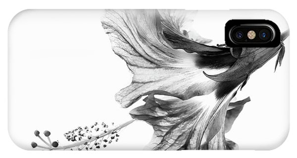 Hibiscus In Black And White IPhone Case