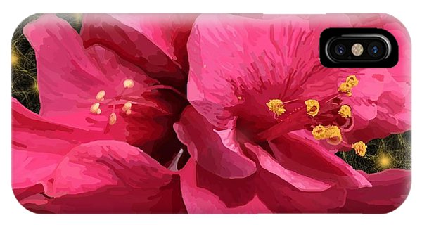 Hibiscus Pollen IPhone Case