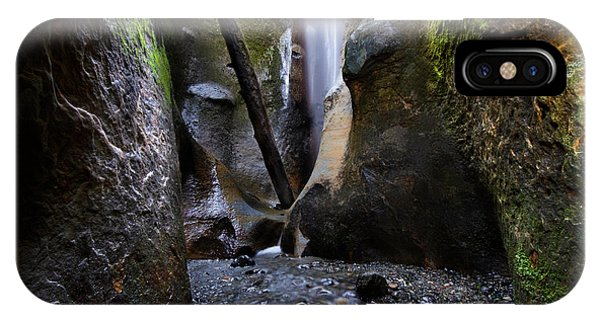 iPhone Case - Hidden Falls Sombrio Beach by Bob Christopher
