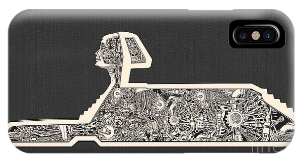 Egyptian iPhone X Case - Hidden Technology Inside The Sphinx by Ryger