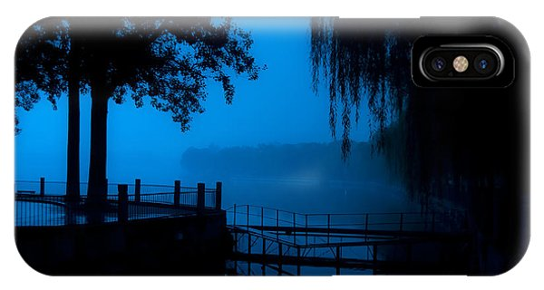 Wood Ducks iPhone Case - High Contrast, Beijing Deserted Lake At by Diego Vargas Nasser