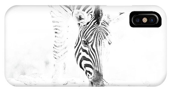 High Key Zebra Drinking IPhone Case