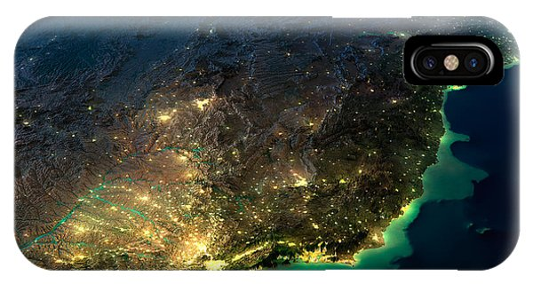 South America iPhone Case - Highly Detailed Earth, Illuminated By by Anton Balazh