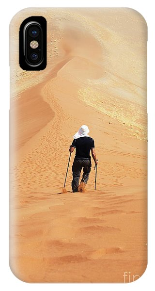 Dunes iPhone Case - Hike In Sand Desert by Galyna Andrushko