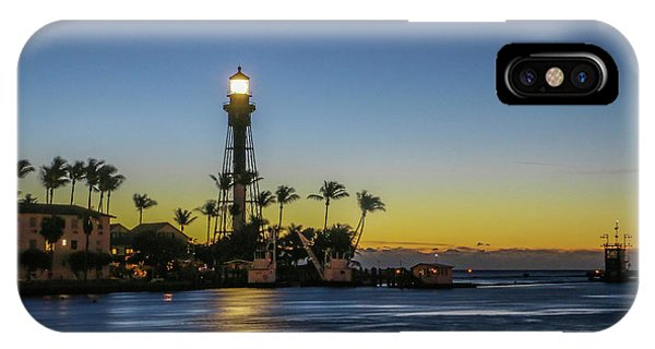 IPhone Case featuring the photograph Hillsboro Light Reflection by Tom Claud