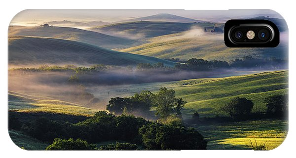 Hilly Tuscany Valley IPhone Case