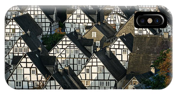 Historic House iPhone Case - Historic German Fachwerkhaus Buildings by Er 09
