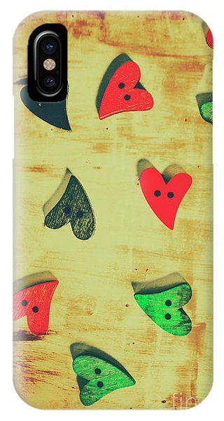 Texture iPhone Case - Historic Hearts by Jorgo Photography - Wall Art Gallery