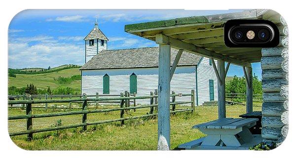 Historic Mcdougall Church, Morley, Alberta, Canada IPhone Case