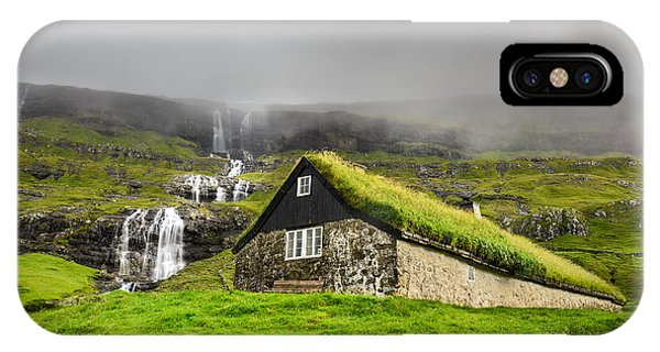 Small iPhone Case - Historic Stone House With Turf Roof On by Nick Fox