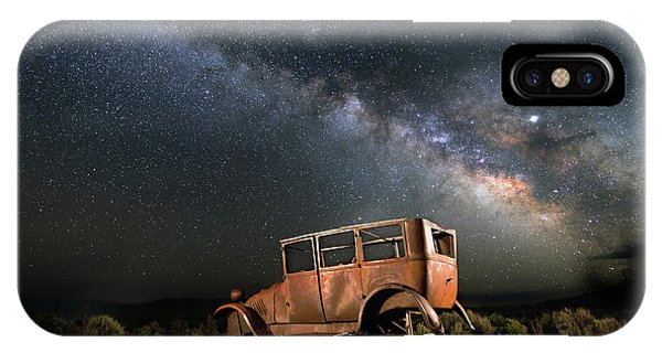 Astro iPhone Case - Hitchhiking To Milky Way by Davorin Mance