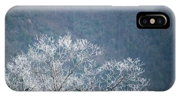 Hoarfrost Collects On Branches IPhone Case