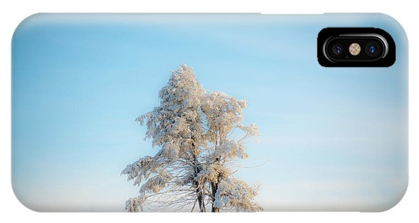 IPhone Case featuring the photograph Hoarfrost On The Prairie by Mark Duehmig