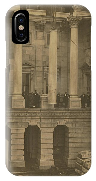 Hoisting Final Marble Column At United States Capitol IPhone Case