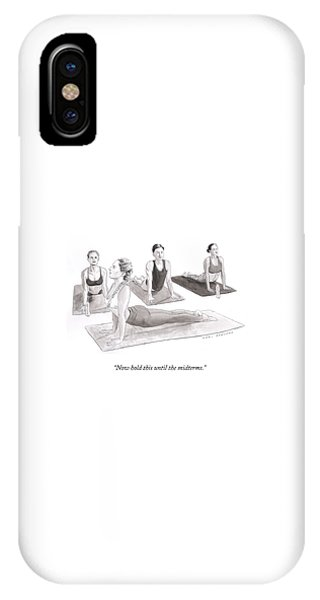 Hold This Until The Midterms IPhone Case
