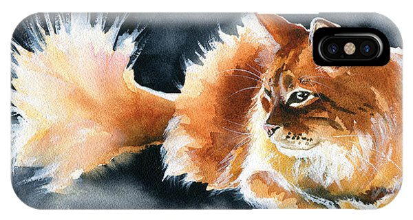Holy Ginger Fluff - Cat Painting IPhone Case