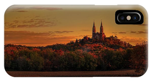 Holy Hill Sunrise Panorama IPhone Case