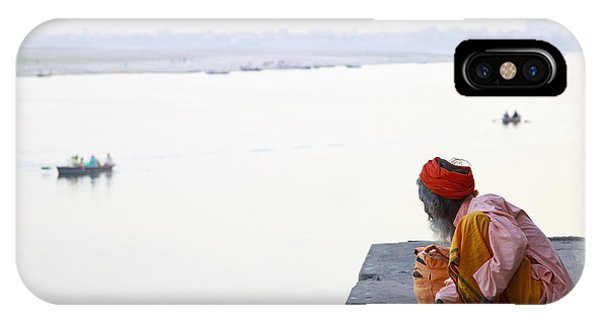 Discovery iPhone Case - Holy Indian Sadhu At The Ghats In by Dirk Ott
