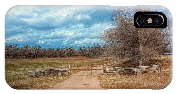 IPhone Case featuring the photograph Home On The Range by Mike Braun