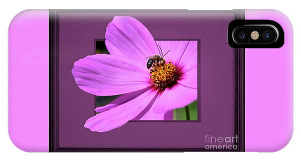 Honey Bee On Pink IPhone Case