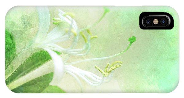 Stamen iPhone Case - Honeysuckle by Delphimages Photo Creations