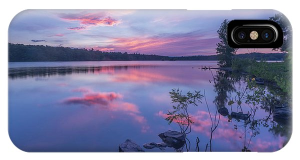 Horn Pond Sunset IPhone Case