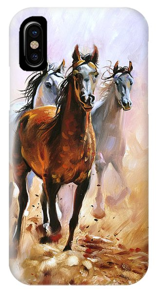 Modern iPhone Case - Horse Equestrian Passion Oil Painting by Marc Little