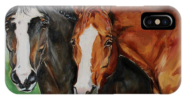 iPhone Case - Horses In Oil Paint by Maria Reichert
