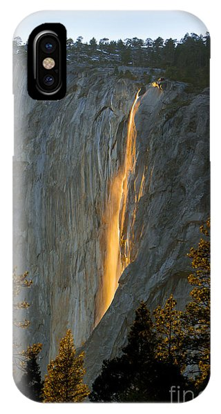 Horsetail Falls In Yosemite Illuminated Phone Case by Peggy Sells