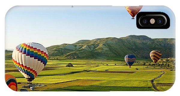Cappadocia iPhone Case - Hot Air Balloons Fly Over Cappadocia Is by Olena Tur