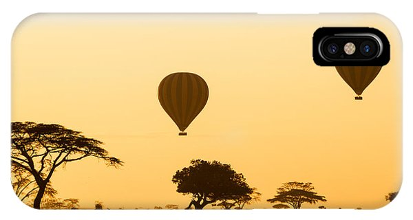 Celebration iPhone Case - Hot Air Balloons Over The Serengeti At by Jez Bennett