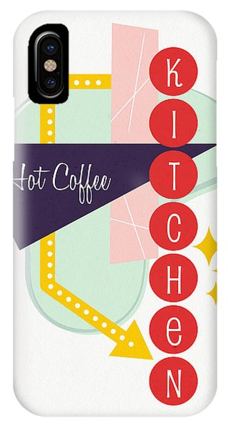 Kitchen iPhone Case - Hot Coffee Kitchen- Art By Linda Woods by Linda Woods
