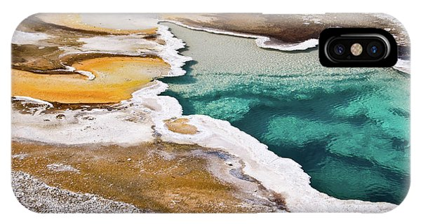 Yellowstone National Park iPhone Case - Hot Spring  by Delphimages Photo Creations