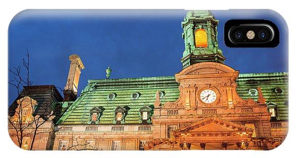 Quebec City iPhone Case - Hotel De Ville Is Actually An Opulent by Stuart Westmorland