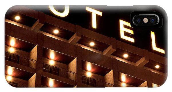 Hotel iPhone Case - Hotel Sign by Joao Seabra