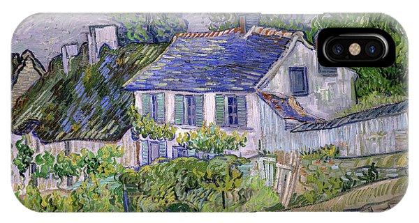Van Gogh Museum iPhone Case - Houses At Auvers, Circa 1890 by Vincent van Gogh
