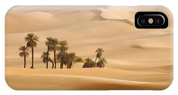 Egyptian iPhone X Case - Huge Dunes Of The Desert. Fine Place by Denis Burdin