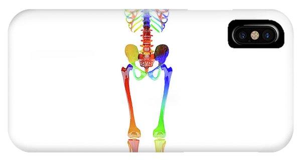 Human Interest iPhone Case - Human Skeleton Model by Betsy Knapp