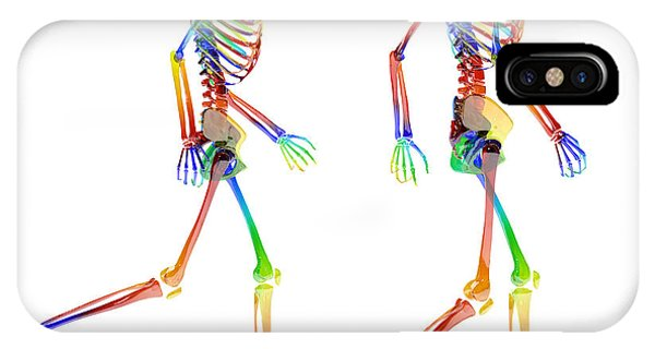 Human Interest iPhone Case - Human Skeleton Pair by Betsy Knapp