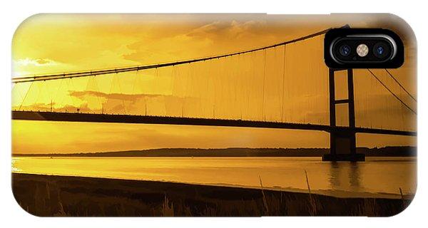 Humber Bridge Golden Sky IPhone Case