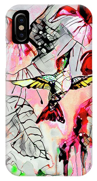 Hummingbird Abstract Modern Bird Art IPhone Case