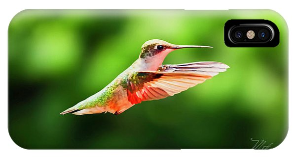 Hummingbird Flying IPhone Case