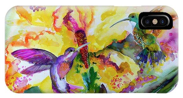 Hummingbird Song Watercolor IPhone Case