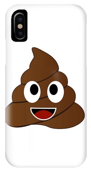 Toilet Humor iPhone Case - Humor Shit Poop Emoji Funny And Kawaii Character by Shawlin