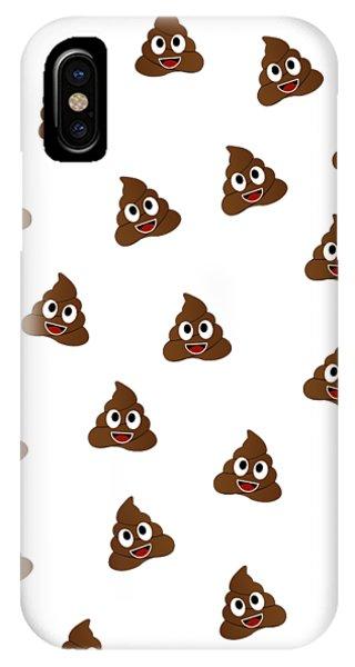 Toilet Humor iPhone Case - Humor Shit Poop Emoji Funny  by Shawlin