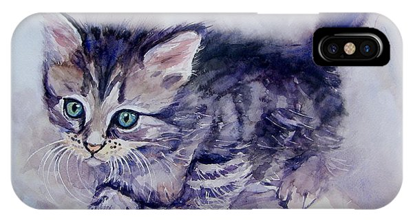 Kitten iPhone Case - Hunting For A Mouse by Suzann Sines