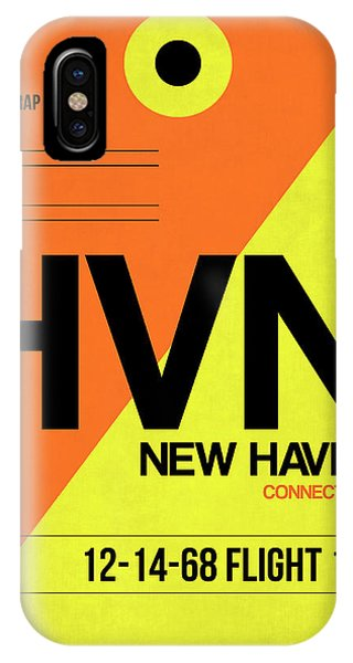 Haven iPhone Case - Hvn New Haven Luggage Tag I by Naxart Studio