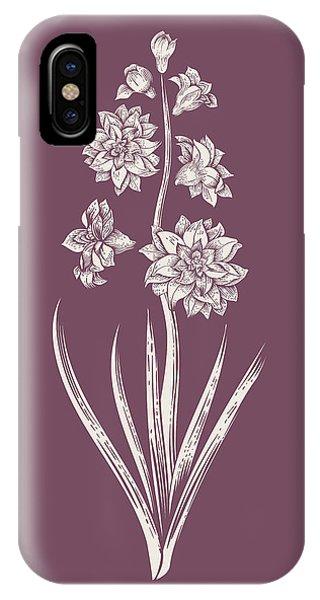 Bouquet iPhone X Case - Hyacinth Purple Flower by Naxart Studio