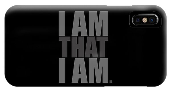 IPhone Case featuring the digital art I Am That I Am by Tim Gainey